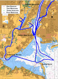 Chart Of New York Harbor Chart Of New York Harbor Chart 12327 Showing The Beacon