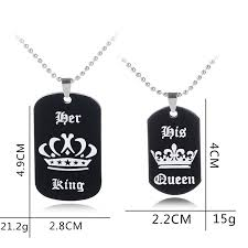 spring summer fashion week cf 2pcs women men love romantic personalized dog tag military necklace custom message stamped statement couple pendant
