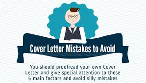 5 Common Cover Letter Mistakes To Avoid Infographic Jobcluster
