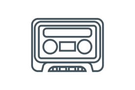 Freesvg.org offers free vector images in svg format with creative commons 0 license (public domain). Cassette Tape Icon Graphic By Zafreeloicon Creative Fabrica