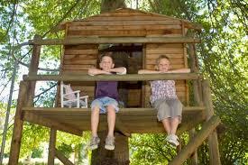 33 Simple And Modern Kids Tree House Designs  Garden  Pinterest Treehouses For Children