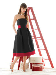 Red And Black Bridesmaid Dress With White Shoes Ipunya