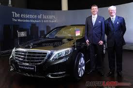 ambassador car new releaseMercedes Maybach S600 Guard India launch price INR 105 crore