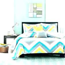 chevron bedding set grey chevron bedding set details about sporty blue teal yellow white quilt gray