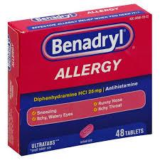 Benadryl Allergy, 25 mg, Ultratab Tablets : Publix.com