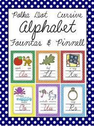 Cursive Polka Dot Alphabet Letter Sound Set Fountas