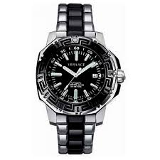 versace 15a99d009s099 mens v couture black divers steel watch