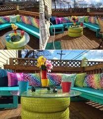 furniture for small balcony. recycle some old tires to make a colorful balcony table 26 tiny furniture ideas for your small s