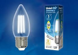 <b>Лампа</b> светодиодная диммируемая <b>Uniel LED</b>-C35-5W/NW/E27 ...