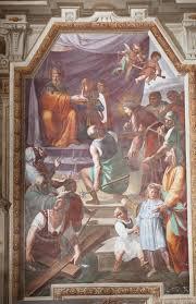 Opera d'arte Cristo davanti a Pilato (parete destra), Cristo incontra la  Madonna sulla via del Calvario (parete frontale) di Bianchi Federico (1638  / 1719), Villa Francesco (/ 1572), a Certosa di Pavia - Beni-culturali.eu
