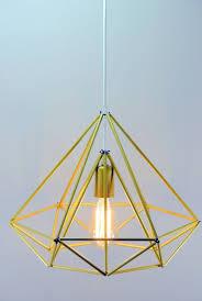diamond himmeli light pendant geometric