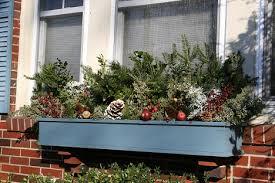 Christmas Window Box Decorations Artistic Landscapes Planters Pots Window Boxes 89