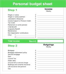 Sample Expense Sheets Personal Budgeting Spreadsheet 6 Sample Budget Sheets Templates