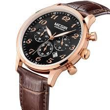 megir new chronograph 24 hours men watch leather strap business megir new chronograph 24 hours men watch leather strap business casual watch quartz watch men wristwatch