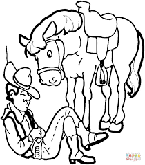 Cowgirl Coloring Page Free Printable Coloring Pages