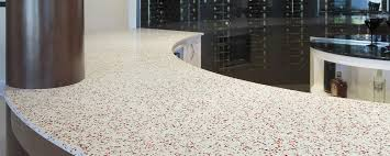 recycled glass surfaces and countertops geos by eos