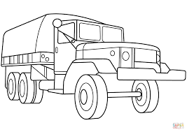 Small Picture Military Troop Transport Truck coloring page Free Printable