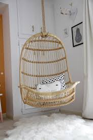Twou0027s Company Hanging Rattan Chair