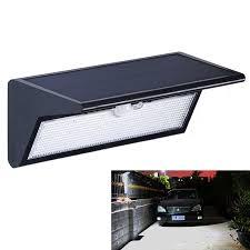 mj 1716 led solar light outdoor garden pir motion sensor solar powered led wall light
