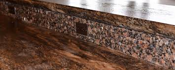 granite split stone kitchen with dark countertops