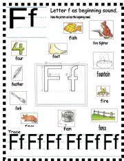 Phonics worksheets to support your child's learning and help them prepare for the year 1 phonics screening check. Abc Letter Ff And Sentences Esl Worksheet By Annyj