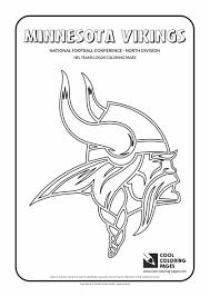 Cool Coloring Pages Minnesota Vikings Nfl American Football Teams