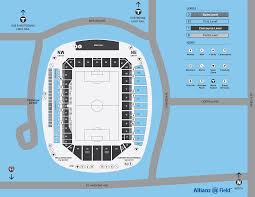 Allianz Field Seating Chart Allianz Field Map Minnesota United Fc