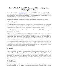 Tipsn Writing Resume Nardellidesign Com How To Write Strong Make