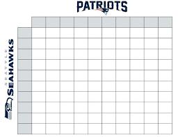 Office Football Pool Of Square Football Sheet Template Printable Board Free Pool Super