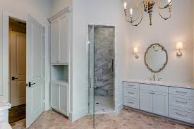 walk in shower lighting. Light Gray Bathroom With Corner Walk In Shower Lighting T