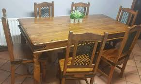 solid indian rosewood table and 6 chair set