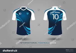 T0shirt Design Soccer Tshirt Design Uniform Set Soccer Stock Vector