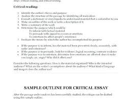 Critical Evaluation Essay Example Critical Literature Review Essay Example Response Format 3 Of An