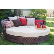 wicker day bed. Simple Day AE Outdoor Montego Bay 4Piece Wicker Day Bed With Sunbrella Tan  Cushions Intended
