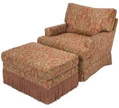 Paisley Sofa chair and ottoman upholstered in wool paisley fabric at 1stdibs 5977 by uwakikaiketsu.us