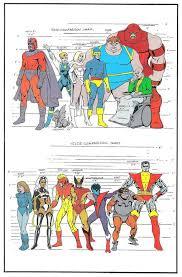Height Chart For The X Men Tv Series Marvel Comics X Men
