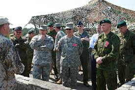 File:U.S. Army Maj. Gen. David Elmo, front left, the U.S. Army Europe  deputy chief of staff for Mobilization and Reserve Affairs, and Maj. Gen. Wesley  Craig, front center, the adjutant general of