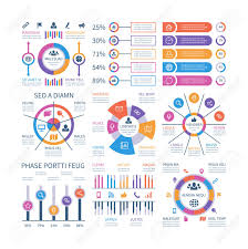 Financial Flow Chart Financial Infographic Business Bar Graph And Flow Chart Economic