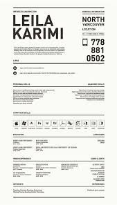 Really Creative Simple Resume By Leila Karimi Via Behance For Inspiration How Should A Resume Look