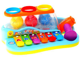 Музыкальный учебный набор ксилофон с шариками, <b>Huile Toys</b> ...