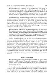 overall conclusions and recommendations adolescent health  page 305