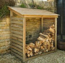 wooden log store / firewood storage - [for more home and decor  inspirations, follow board] | [house] | Pinterest | Log store, Firewood  storage and Logs