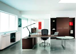 managers office design. Stunning Dark Brown Modern Office Set Combined With Black Mesh Chair And Executive Desk Also Minimalist Cabinet In Elegant Managers Design