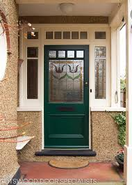 edwardian front entrance porch with