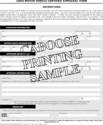 Vehicle Appraisal Form Used Motor Vehicle Certified Appraisal Form AD24 24 Pad Of 2400 17
