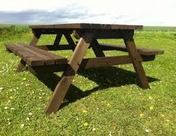 We Took Inspiration From Traditional German Biergarten Tables For Beer Garden Benches