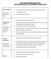 Business Case Template Word 9 Free Word Documents Download