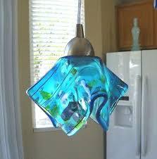 art glass pendant blue confetti art glass pendant light l kitchen island lighting art glass mini