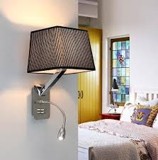 bedroom wall sconce lighting. Creative Fabric Wall Sconces Band Switch Modern Led Reading With Regard To Bedroom Lights Decorating Sconce Lighting