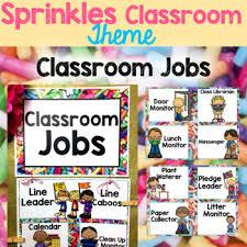Classroom Monitors Chart Classroom Jobs Chart